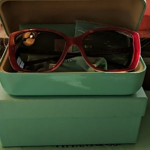 Tiffany & Co Red  and Blue Sunglasses